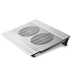 NoteBook Halter Halterung Kühler Cooler Kühlpad Lüfter Laptop Ständer 9 Zoll bis 16 Zoll Universal M26 für Apple MacBook Air 13 zoll Silber