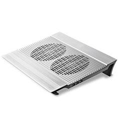 NoteBook Halter Halterung Kühler Cooler Kühlpad Lüfter Laptop Ständer 9 Zoll bis 16 Zoll Universal M26 für Apple MacBook Pro 15 zoll Silber