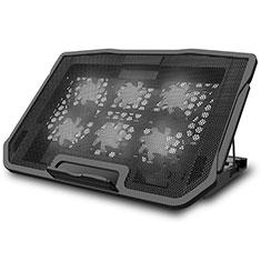 NoteBook Halter Halterung Kühler Cooler Kühlpad Lüfter Laptop Ständer 9 Zoll bis 17 Zoll Universal L03 für Apple MacBook Air 11 zoll Schwarz