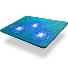 NoteBook Halter Halterung Kühler Cooler Kühlpad Lüfter Laptop Ständer 9 Zoll bis 17 Zoll Universal L04 für Apple MacBook 12 zoll Blau