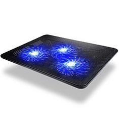 NoteBook Halter Halterung Kühler Cooler Kühlpad Lüfter Laptop Ständer 9 Zoll bis 17 Zoll Universal L04 für Apple MacBook Air 11 zoll Schwarz