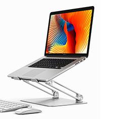 NoteBook Halter Halterung Laptop Ständer Universal K02 für Samsung Galaxy Book Flex 13.3 NP930QCG Silber
