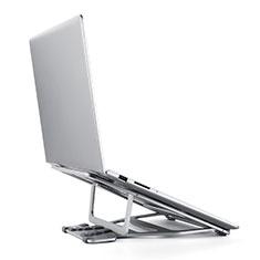 NoteBook Halter Halterung Laptop Ständer Universal K03 für Samsung Galaxy Book Flex 13.3 NP930QCG Silber