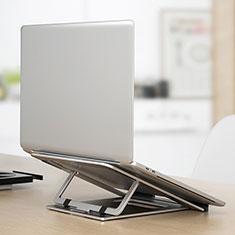 NoteBook Halter Halterung Laptop Ständer Universal K04 für Samsung Galaxy Book Flex 13.3 NP930QCG Silber