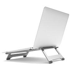 NoteBook Halter Halterung Laptop Ständer Universal K05 für Samsung Galaxy Book Flex 13.3 NP930QCG Silber