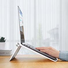 NoteBook Halter Halterung Laptop Ständer Universal K11 für Samsung Galaxy Book Flex 13.3 NP930QCG Silber