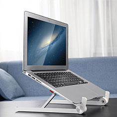 NoteBook Halter Halterung Laptop Ständer Universal K13 für Samsung Galaxy Book Flex 15.6 NP950QCG Silber