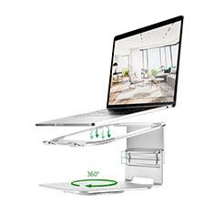 NoteBook Halter Halterung Laptop Ständer Universal S07 für Apple MacBook Air 13.3 zoll (2018) Silber