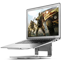 NoteBook Halter Halterung Laptop Ständer Universal S16 für Apple MacBook Pro 13 zoll Silber