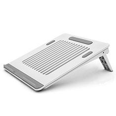 NoteBook Halter Halterung Laptop Ständer Universal T04 für Samsung Galaxy Book Flex 13.3 NP930QCG Weiß