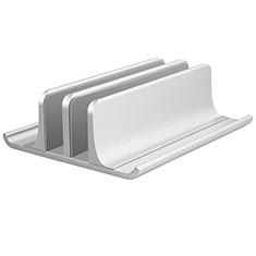 NoteBook Halter Halterung Laptop Ständer Universal T06 für Samsung Galaxy Book Flex 13.3 NP930QCG Silber