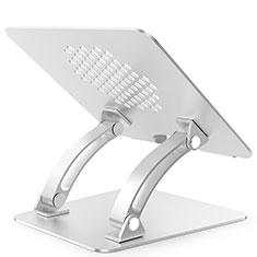 NoteBook Halter Halterung Laptop Ständer Universal T09 für Samsung Galaxy Book Flex 15.6 NP950QCG Silber