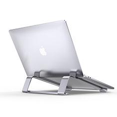 NoteBook Halter Halterung Laptop Ständer Universal T10 für Samsung Galaxy Book Flex 15.6 NP950QCG Silber