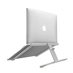 NoteBook Halter Halterung Laptop Ständer Universal T12 für Samsung Galaxy Book Flex 13.3 NP930QCG Silber
