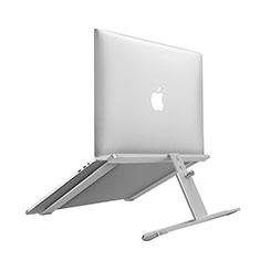 NoteBook Halter Halterung Laptop Ständer Universal T12 für Samsung Galaxy Book Flex 15.6 NP950QCG Silber