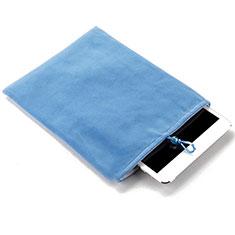 Samt Handy Tasche Schutz Hülle für Apple iPad Air 2 Hellblau