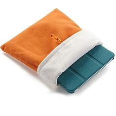 Samt Handy Tasche Schutz Hülle für Apple iPad Air 2 Orange