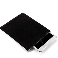 Samt Handy Tasche Schutz Hülle für Apple iPad Air 2 Schwarz