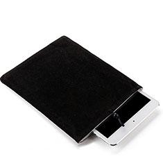 Samt Handy Tasche Schutz Hülle für Apple New iPad 9.7 (2018) Schwarz