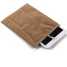 Samt Handy Tasche Schutz Hülle für Huawei Honor WaterPlay 10.1 HDN-W09 Braun