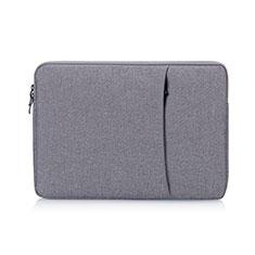 Samt Handy Tasche Schutz Hülle S01 für Samsung Galaxy Book Flex 15.6 NP950QCG Grau