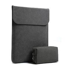 Samt Handy Tasche Schutz Hülle S02 für Huawei Matebook D14 (2020) Schwarz