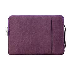 Samt Handy Tasche Schutz Hülle S02 für Samsung Galaxy Book Flex 13.3 NP930QCG Violett