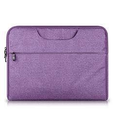 Samt Handy Tasche Schutz Hülle S03 für Huawei Matebook X Pro (2020) 13.9 Violett