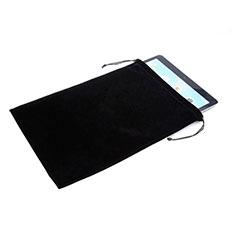 Samt Handy Tasche Sleeve Hülle für Huawei Honor WaterPlay 10.1 HDN-W09 Schwarz
