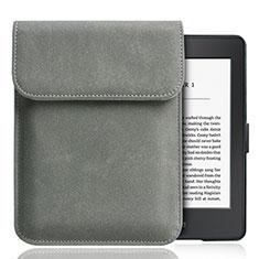 Samt Handy Tasche Sleeve Hülle S01 für Amazon Kindle Paperwhite 6 inch Grau