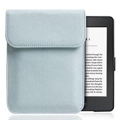 Samt Handy Tasche Sleeve Hülle S01 für Amazon Kindle Paperwhite 6 inch Hellblau