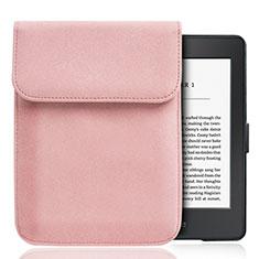 Samt Handy Tasche Sleeve Hülle S01 für Amazon Kindle Paperwhite 6 inch Rosa