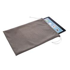 Samt Handytasche Sleeve Hülle für Samsung Galaxy Tab S6 Lite 4G 10.4 SM-P615 Grau