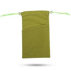 Samtbeutel Säckchen Samt Handy Tasche Universal für Huawei Y9a Grün