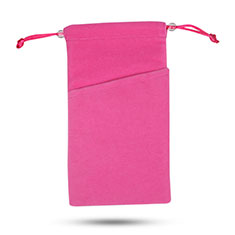 Samtbeutel Säckchen Samt Handy Tasche Universal für Huawei Y9a Pink