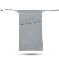 Samtbeutel Säckchen Schmuckbeutel Schwarz Universal für Sony Xperia XA2 Ultra Grau