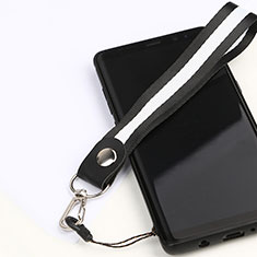 Schlüsselband Schlüsselbänder Lanyard K01 für Asus Zenfone 3 Zoom Schwarz