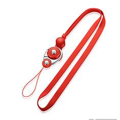 Schlüsselband Schlüsselbänder Umhängeband Lanyard K07 für Asus Zenfone 3 Zoom Rot