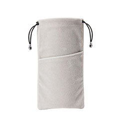 Schmuckbeutel Schwarz Samtbeutel Geschenktasche Universal K02 für Huawei Honor WaterPlay 10.1 HDN-W09 Grau