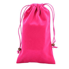Schmuckbeutel Schwarz Samtbeutel Geschenktasche Universal für Huawei Y9a Pink
