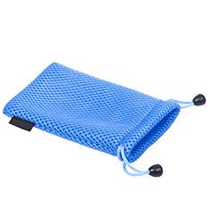 Schmuckbeutel Schwarz Samtbeutel Geschenktasche Universal S03 für Huawei Honor WaterPlay 10.1 HDN-W09 Blau