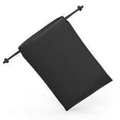 Schmuckbeutel Schwarz Samtbeutel Geschenktasche Universal S04 für Huawei Honor WaterPlay 10.1 HDN-W09 Schwarz