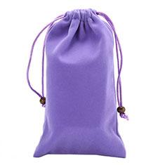 Schmuckbeutel Schwarz Samtbeutel Geschenktasche Universal für Oppo Reno3 A Violett