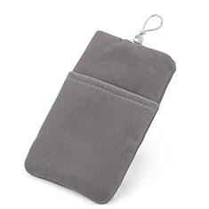 Schmuckbeutel Schwarz Samtbeutel Säckchen Universal für Huawei Y9a Grau