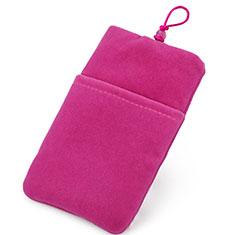 Schmuckbeutel Schwarz Samtbeutel Säckchen Universal für Huawei Y9a Pink