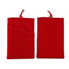 Schmuckbeutel Schwarz Samtbeutel Säckchen Universal für Huawei Y9a Rot