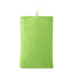 Schmuckbeutel Schwarz Samtbeutel Samtsäckchen Universal für Huawei Y9a Grün