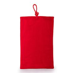 Schmuckbeutel Schwarz Samtbeutel Samtsäckchen Universal für Huawei Y9a Rot