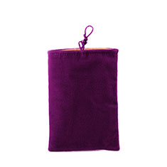 Schmuckbeutel Schwarz Samtbeutel Samtsäckchen Universal für Huawei Y9a Violett