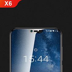 Schutzfolie Displayschutzfolie Panzerfolie Gehärtetes Glas Glasfolie Skins zum Aufkleben Panzerglas T01 für Nokia X6 Klar